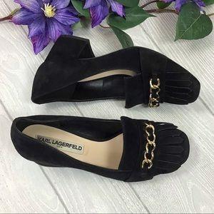 Karl Lagerfeld Aduro Chain Loafer Heels